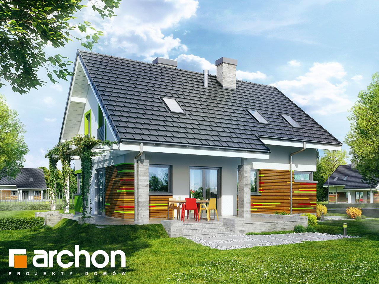 Проект будинку ARCHON+ Будинок в аденофорах стилізація 4