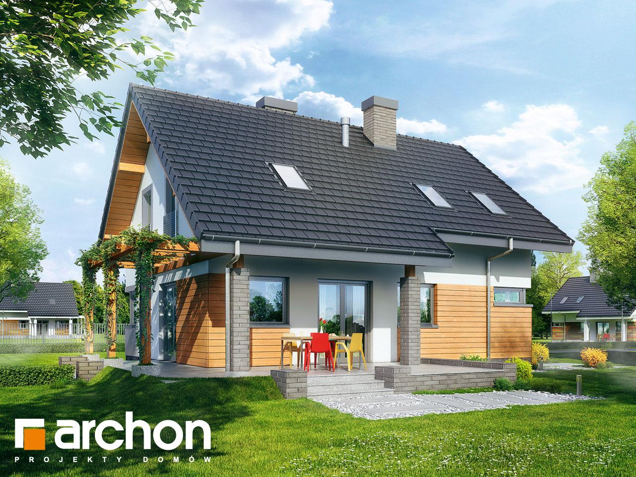Проект будинку ARCHON+ Будинок в аденофорах Вид 2
