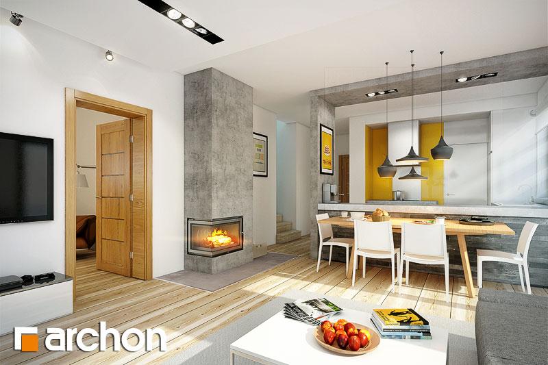 Проект будинку ARCHON+ Будинок в аденофорах денна зона (візуалізація 1 від 1)