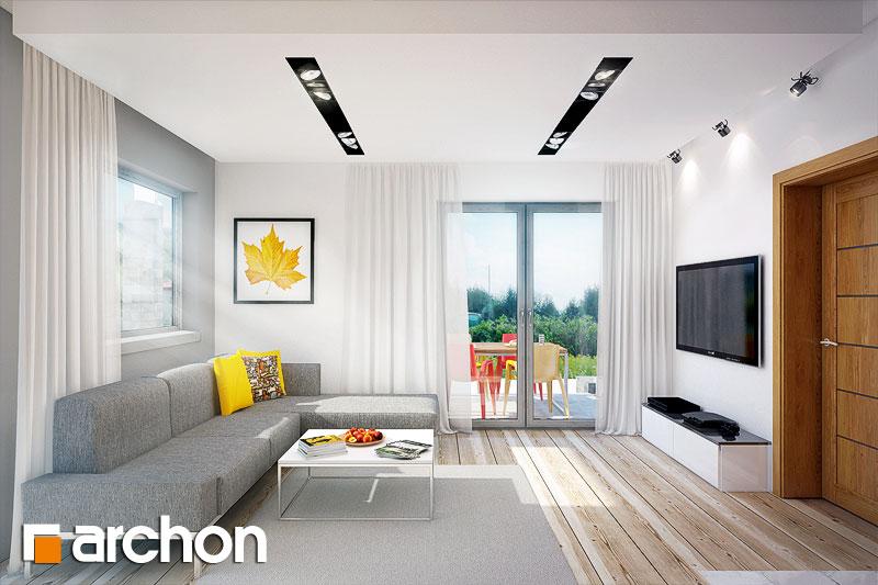 Проект будинку ARCHON+ Будинок в аденофорах денна зона (візуалізація 1 від 2)