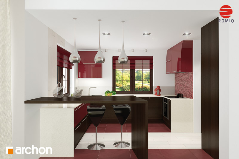 Проект будинку ARCHON+ Будинок в каллах 3 аранжування кухні 2 від 2