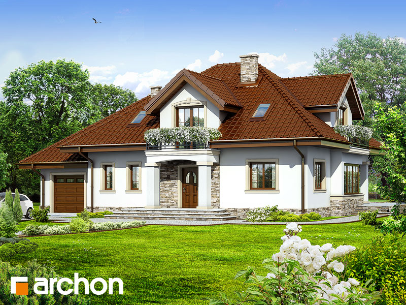 Проект будинку ARCHON+ Будинок в каллах 3 Вид 1