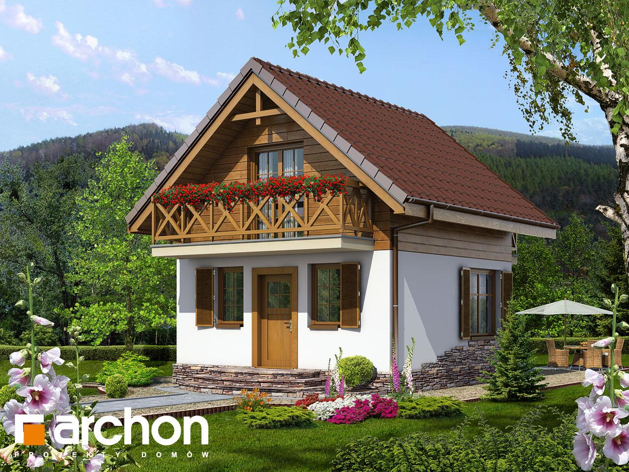 Проект будинку ARCHON+ Літній будиночок в крокусах Вид 2