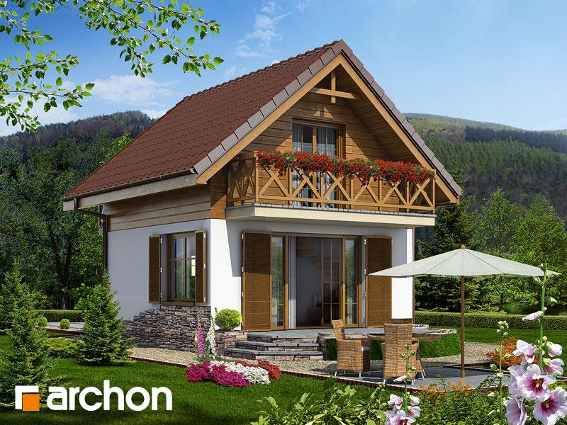 Проект будинку ARCHON+ Літній будиночок в крокусах Вид 1