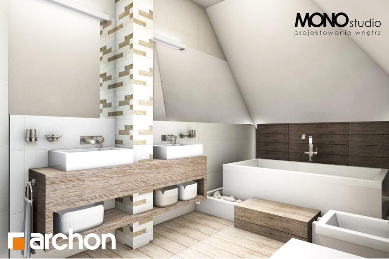 Проект будинку ARCHON+ Будинок в руколі візуалізація ванни (візуалізація 3 від 1)