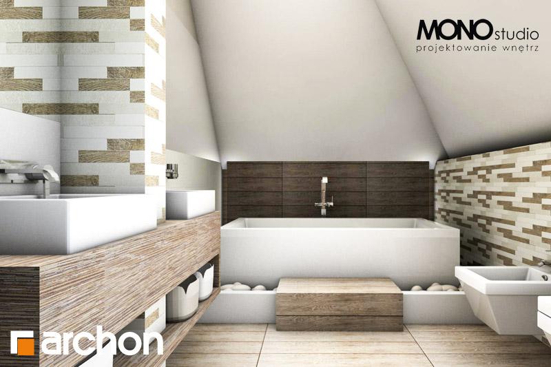 Проект будинку ARCHON+ Будинок в руколі візуалізація ванни (візуалізація 3 від 2)