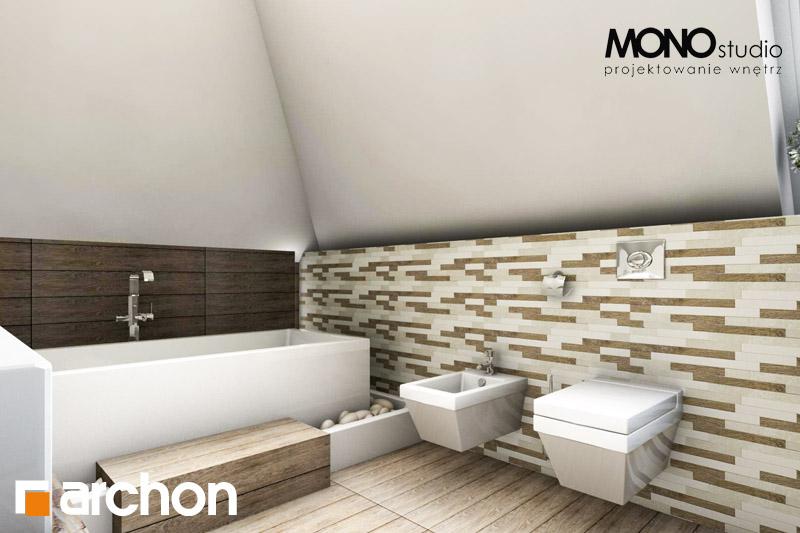 Проект будинку ARCHON+ Будинок в руколі візуалізація ванни (візуалізація 3 від 4)
