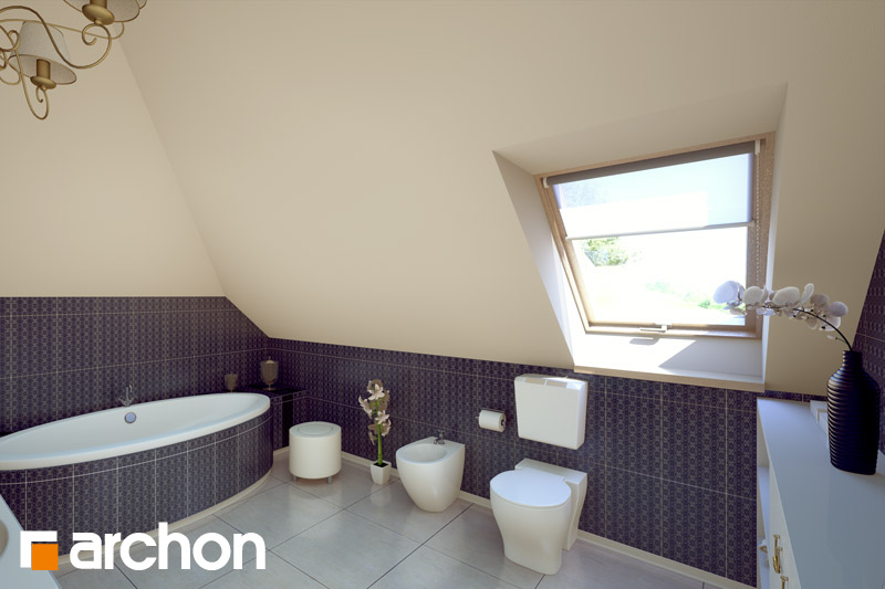 Проект будинку ARCHON+ Будинок в руколі візуалізація ванни (візуалізація 4 від 1)