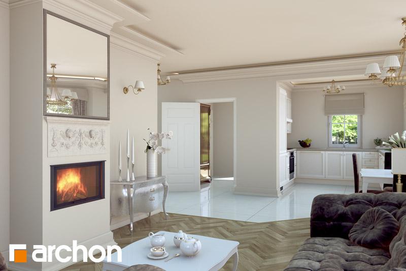 Проект будинку ARCHON+ Будинок в руколі денна зона (візуалізація 2 від 3)