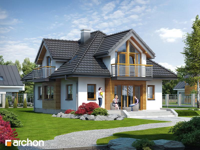 Проект будинку ARCHON+ Будинок у ванілі стилізація 3