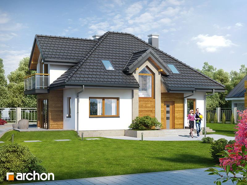 Проект будинку ARCHON+ Будинок у ванілі стилізація 4