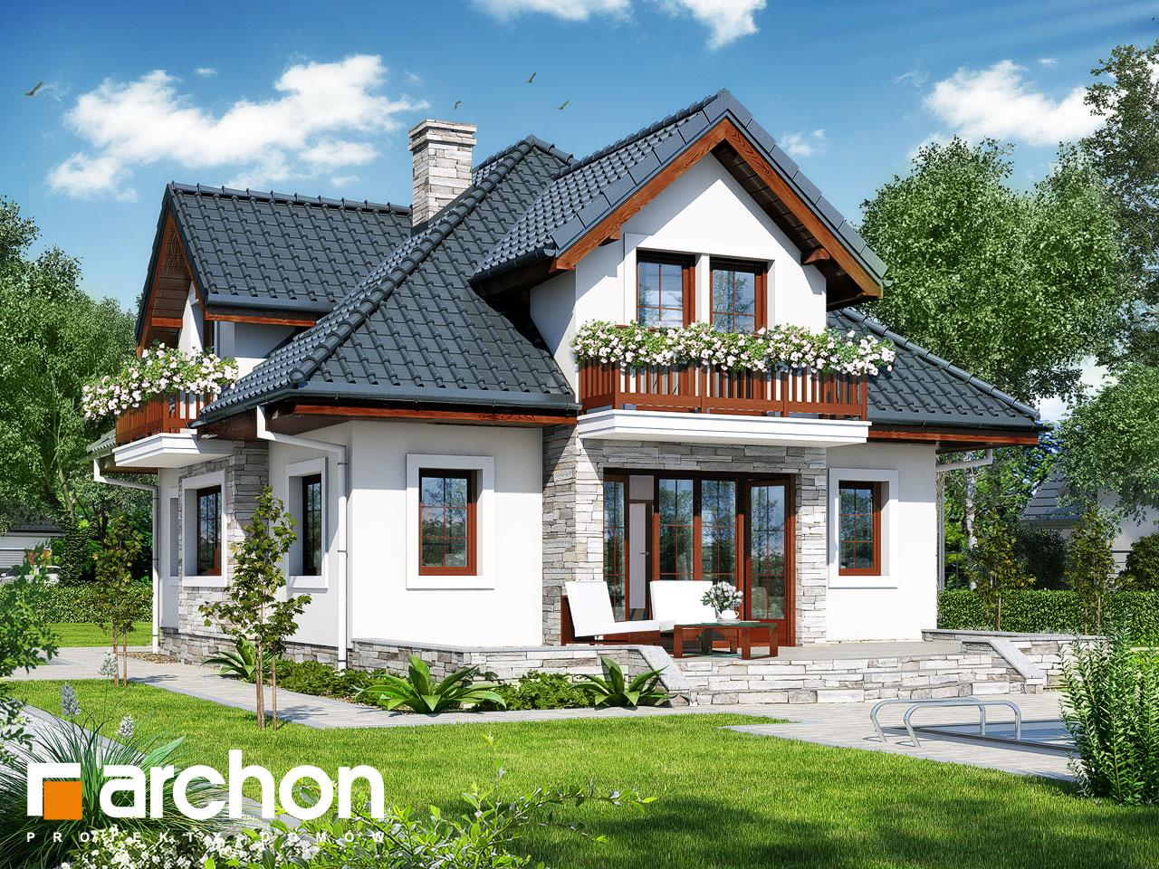 Проект будинку ARCHON+ Будинок у ванілі Вид 2