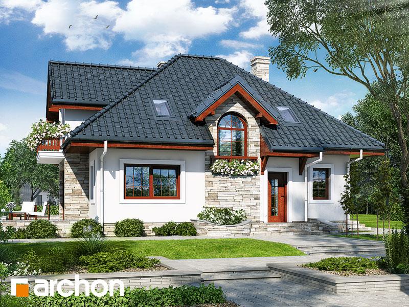Проект будинку ARCHON+ Будинок у ванілі Вид 1
