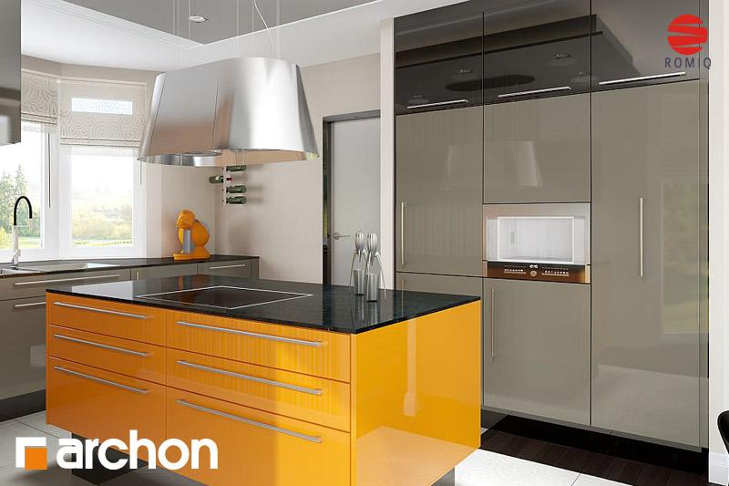 Проект будинку ARCHON+ Будинок в калатеях аранжування кухні 1 від 2