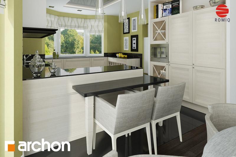 Проект будинку ARCHON+ Будинок в калатеях аранжування кухні 2 від 1