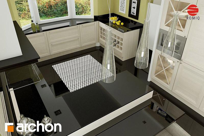Проект будинку ARCHON+ Будинок в калатеях аранжування кухні 2 від 3