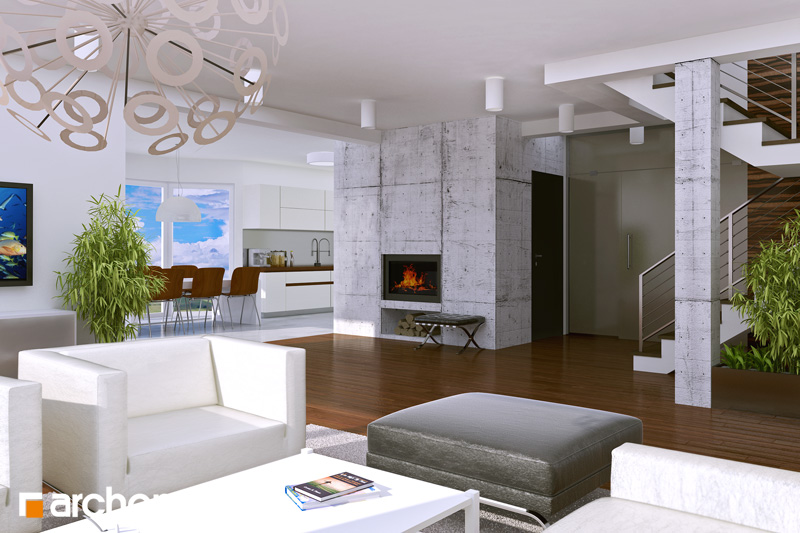 Проект будинку ARCHON+ Будинок в калатеях денна зона (візуалізація 1 від 1)