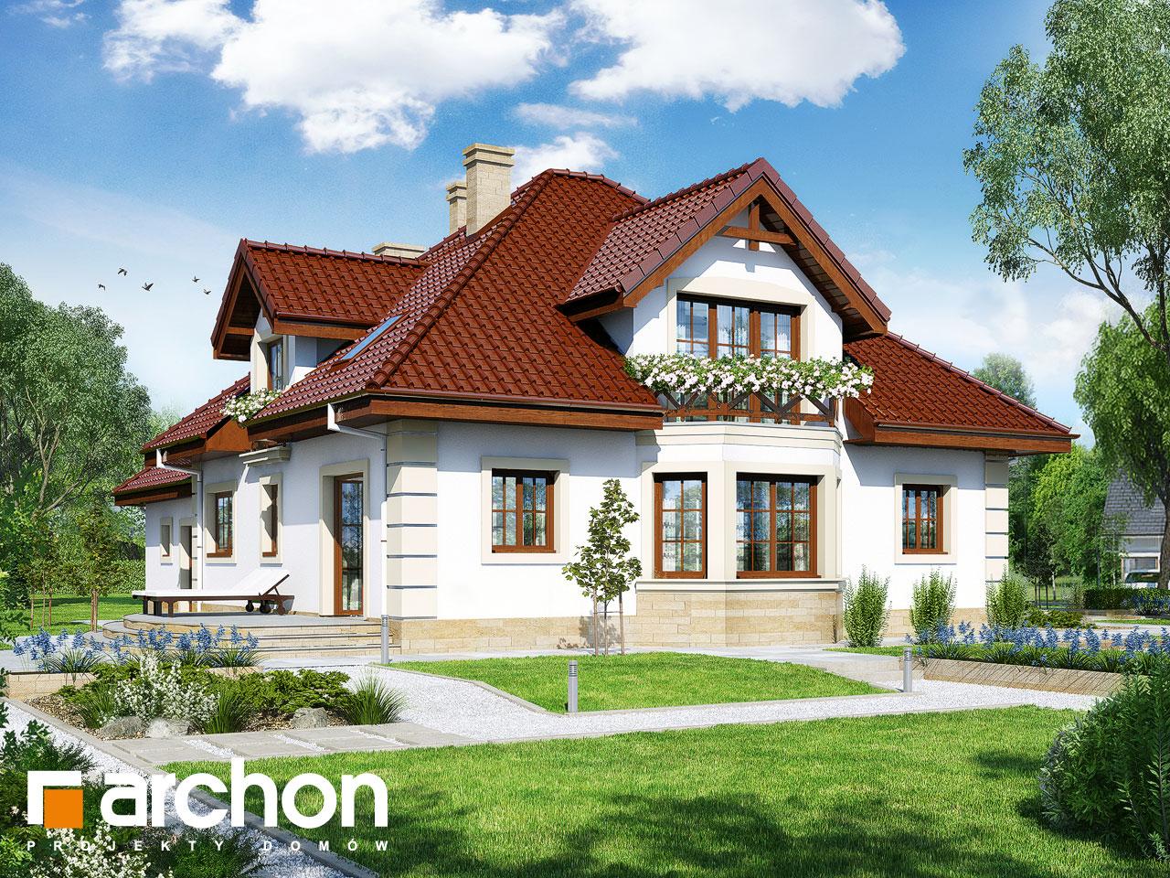 Проект будинку ARCHON+ Будинок в тим'яні 4 (Г2) Вид 2