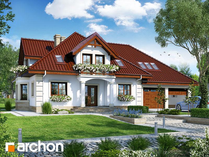 Проект будинку ARCHON+ Будинок в тим'яні 4 (Г2) Вид 1