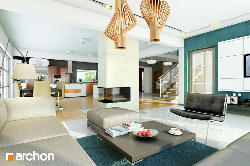 Проект будинку ARCHON+ Резиденція в нертерах денна зона (візуалізація 1 від 1)
