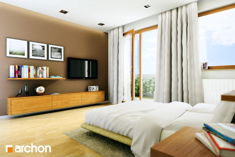 Проект дома ARCHON+ Вилла Юлия ночная зона (визуализация 1 вид 1)