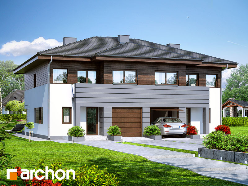 Проект дома ARCHON+ Вилла Юлия Вид 1
