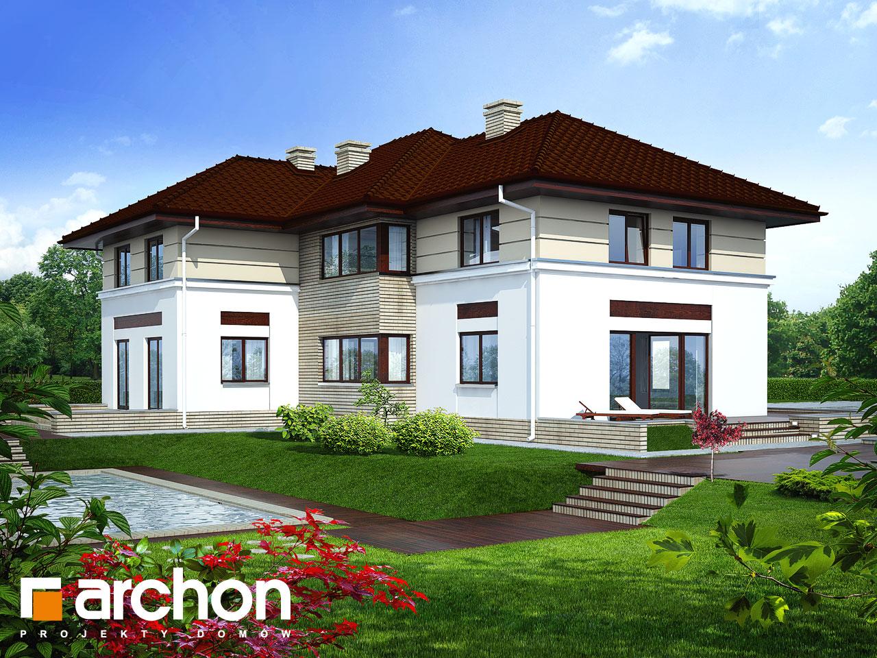 Проект будинку ARCHON+ Вілла Приморська Вид 2
