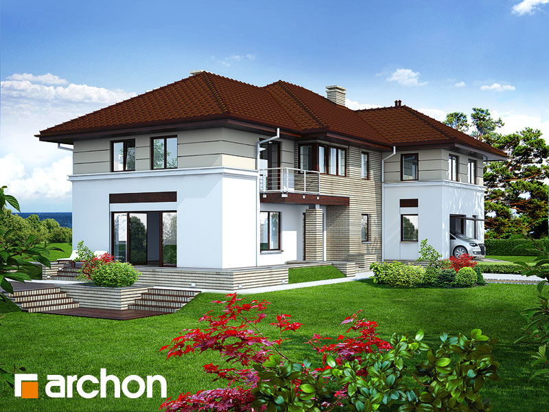 Проект дома ARCHON+ Вилла Приморская Вид 1