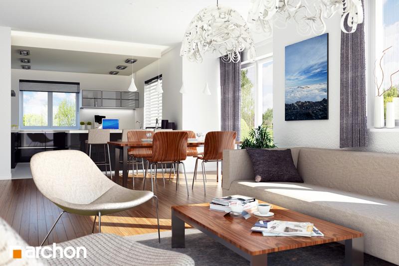Проект дома ARCHON+ Дом в джонагольдах дневная зона (визуализация 1 вид 1)