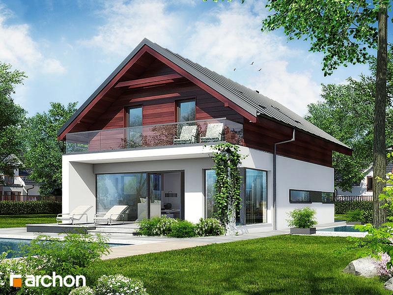 Проект будинку ARCHON+ Будинок в морінгах стилізація 6