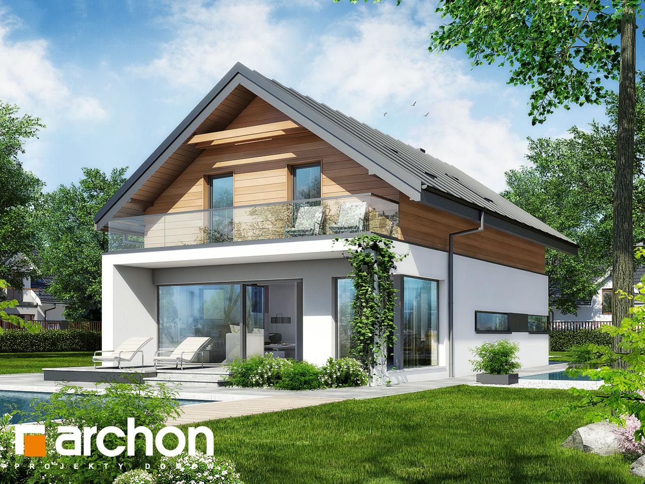 Проект будинку ARCHON+ Будинок в морінгах Вид 2