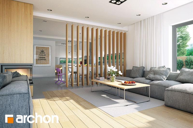 Проект будинку ARCHON+ Будинок в морінгах денна зона (візуалізація 1 від 1)