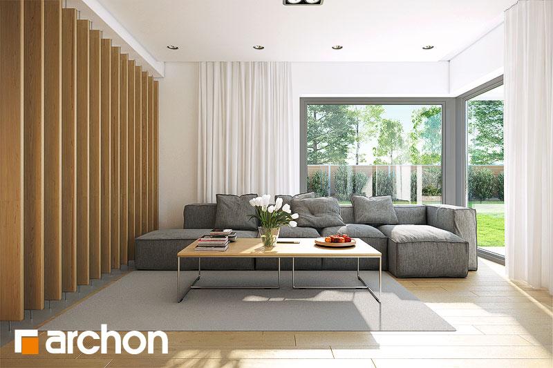 Проект будинку ARCHON+ Будинок в морінгах денна зона (візуалізація 1 від 2)