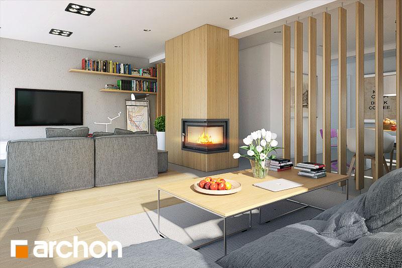 Проект будинку ARCHON+ Будинок в морінгах денна зона (візуалізація 1 від 3)