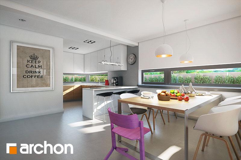 Проект будинку ARCHON+ Будинок в морінгах денна зона (візуалізація 1 від 5)