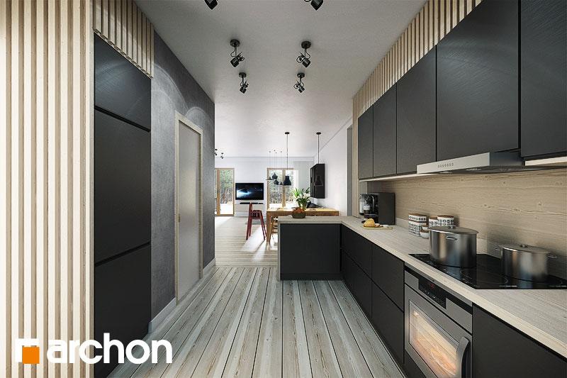 Проект будинку ARCHON+ Будинок в акебіях 2 візуалізація кухні 1 від 1