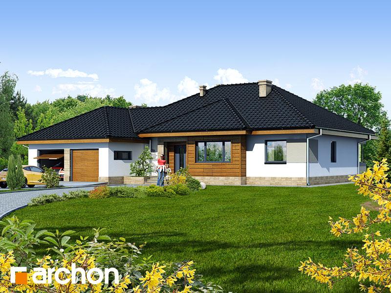 Проект будинку ARCHON+ Будинок в акебіях 2 Вид 1