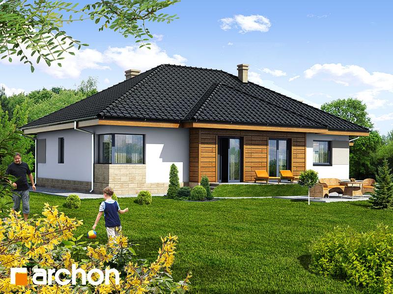 Проект будинку ARCHON+ Будинок в акебіях 2 Вид 2