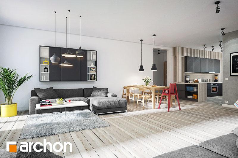Проект будинку ARCHON+ Будинок в акебіях 2 денна зона (візуалізація 1 від 1)