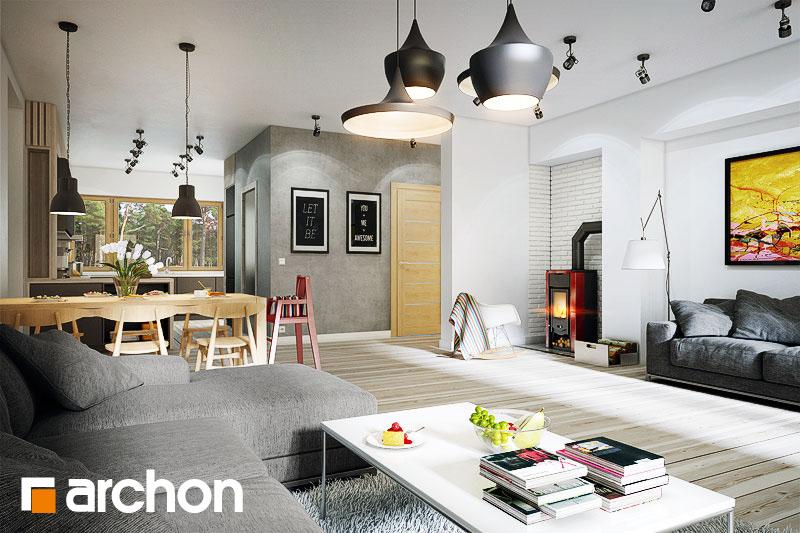 Проект будинку ARCHON+ Будинок в акебіях 2 денна зона (візуалізація 1 від 2)