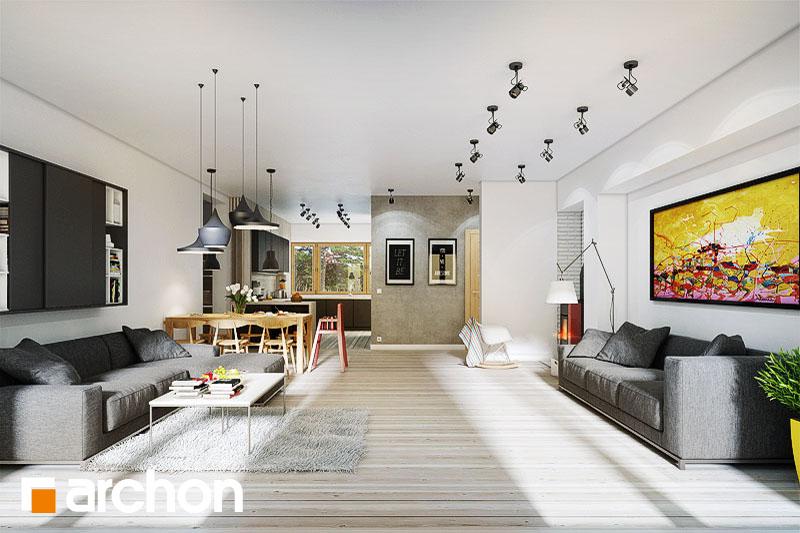 Проект будинку ARCHON+ Будинок в акебіях 2 денна зона (візуалізація 1 від 3)