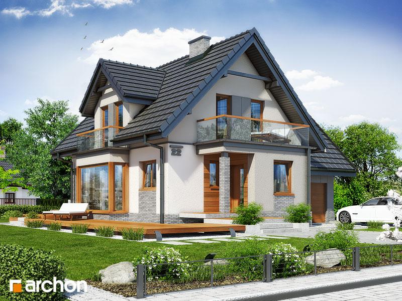 Проект будинку ARCHON+ Будинок в журавлині (Г) стилізація 3