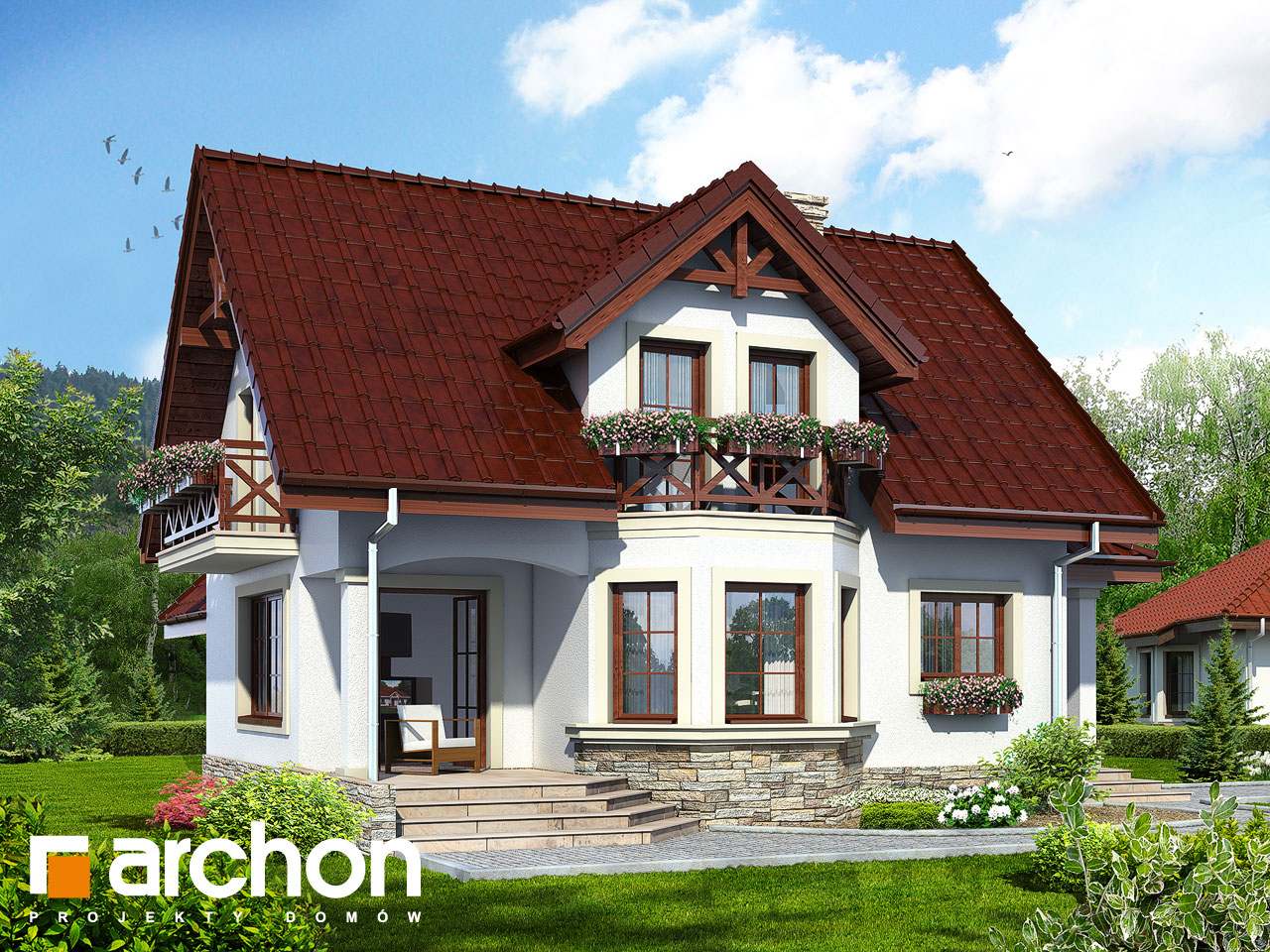 Проект будинку ARCHON+ Будинок в журавлині (Г) Вид 2