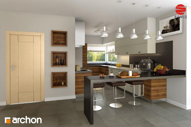 Проект будинку ARCHON+ Будинок в хебе аранжування кухні 1 від 1