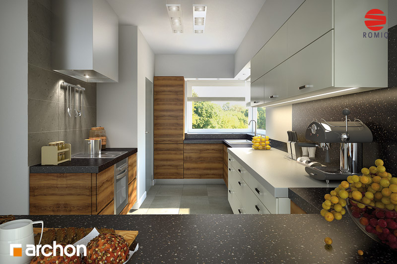 Проект будинку ARCHON+ Будинок в хебе аранжування кухні 1 від 2