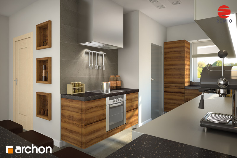 Проект будинку ARCHON+ Будинок в хебе аранжування кухні 1 від 3