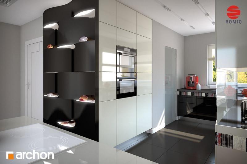 Проект будинку ARCHON+ Будинок в хебе аранжування кухні 2 від 1