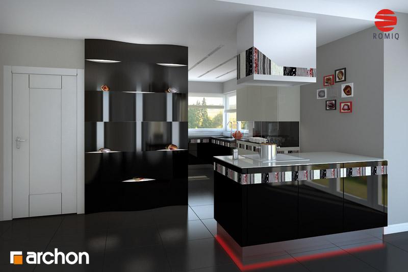 Проект будинку ARCHON+ Будинок в хебе аранжування кухні 2 від 2