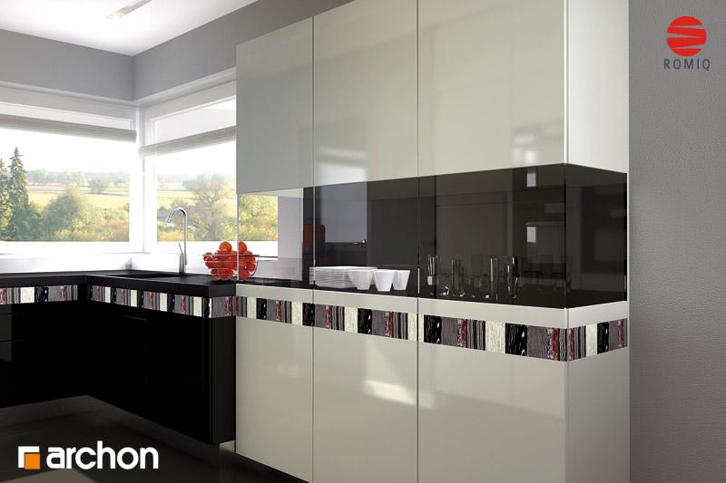 Проект будинку ARCHON+ Будинок в хебе аранжування кухні 2 від 3