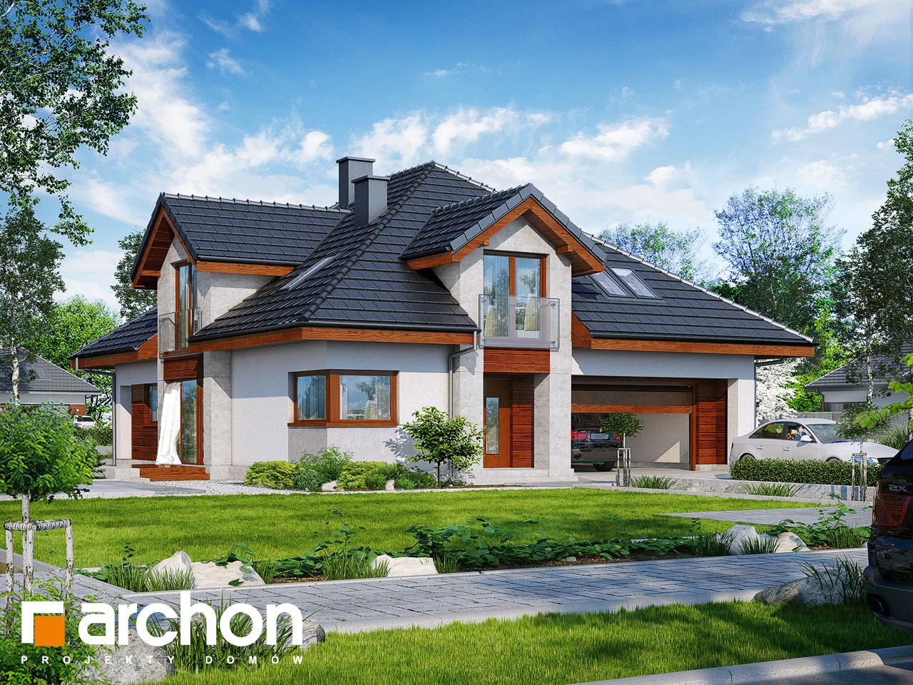 Проект будинку ARCHON+ Будинок в хебе Вид 2